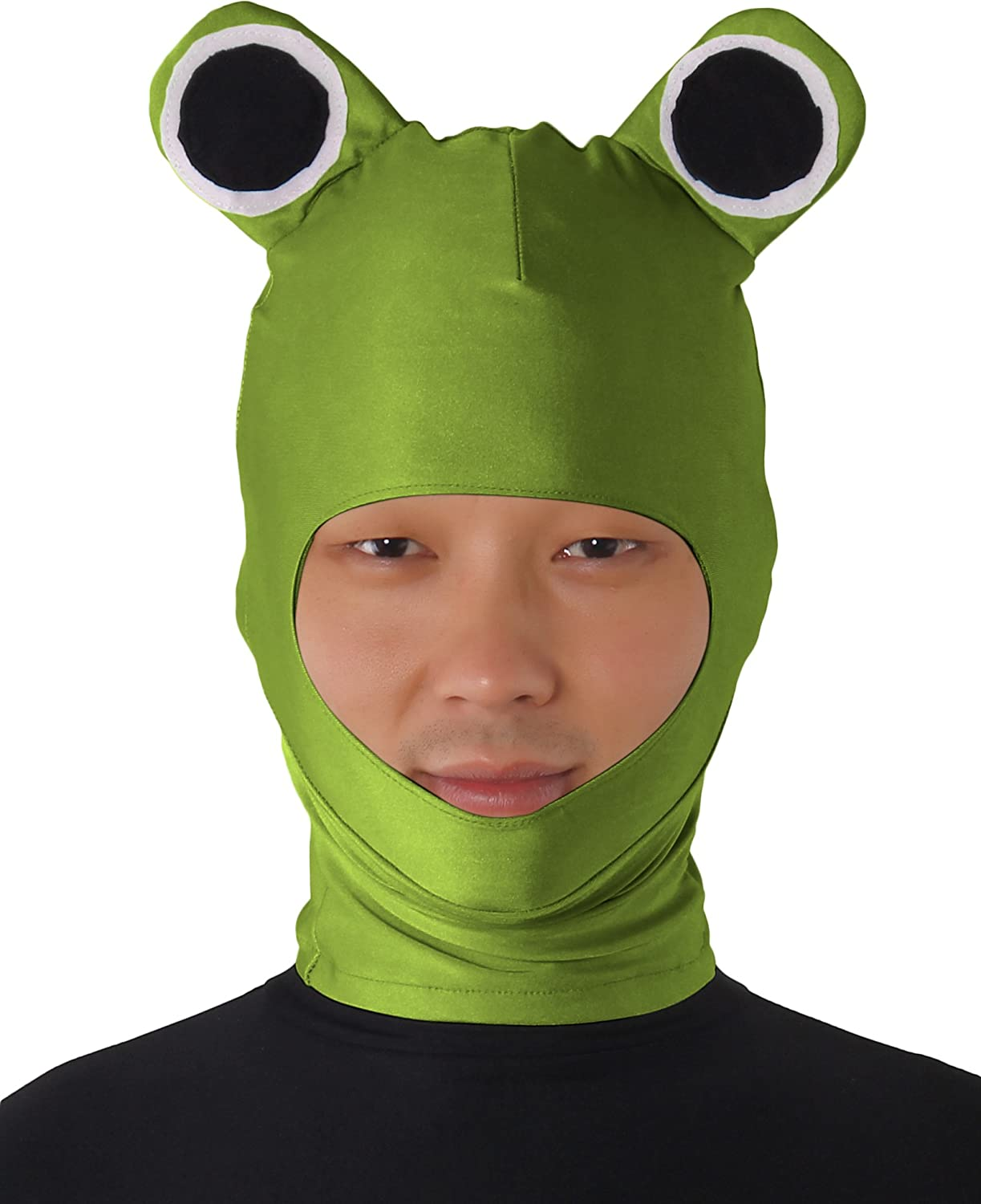 Amazon.com JustinCostume Adultsu0027 Balaclava Face Mask Salamander Hood Costume Army Green Clothing  sc 1 st  Amazon.com : frog costume for adults  - Germanpascual.Com