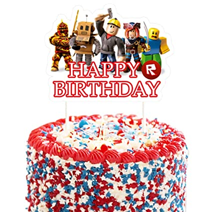 Incredible Cake Decorations For Roblox Cake Topper Birthday Party Supplies Funny Birthday Cards Online Hendilapandamsfinfo