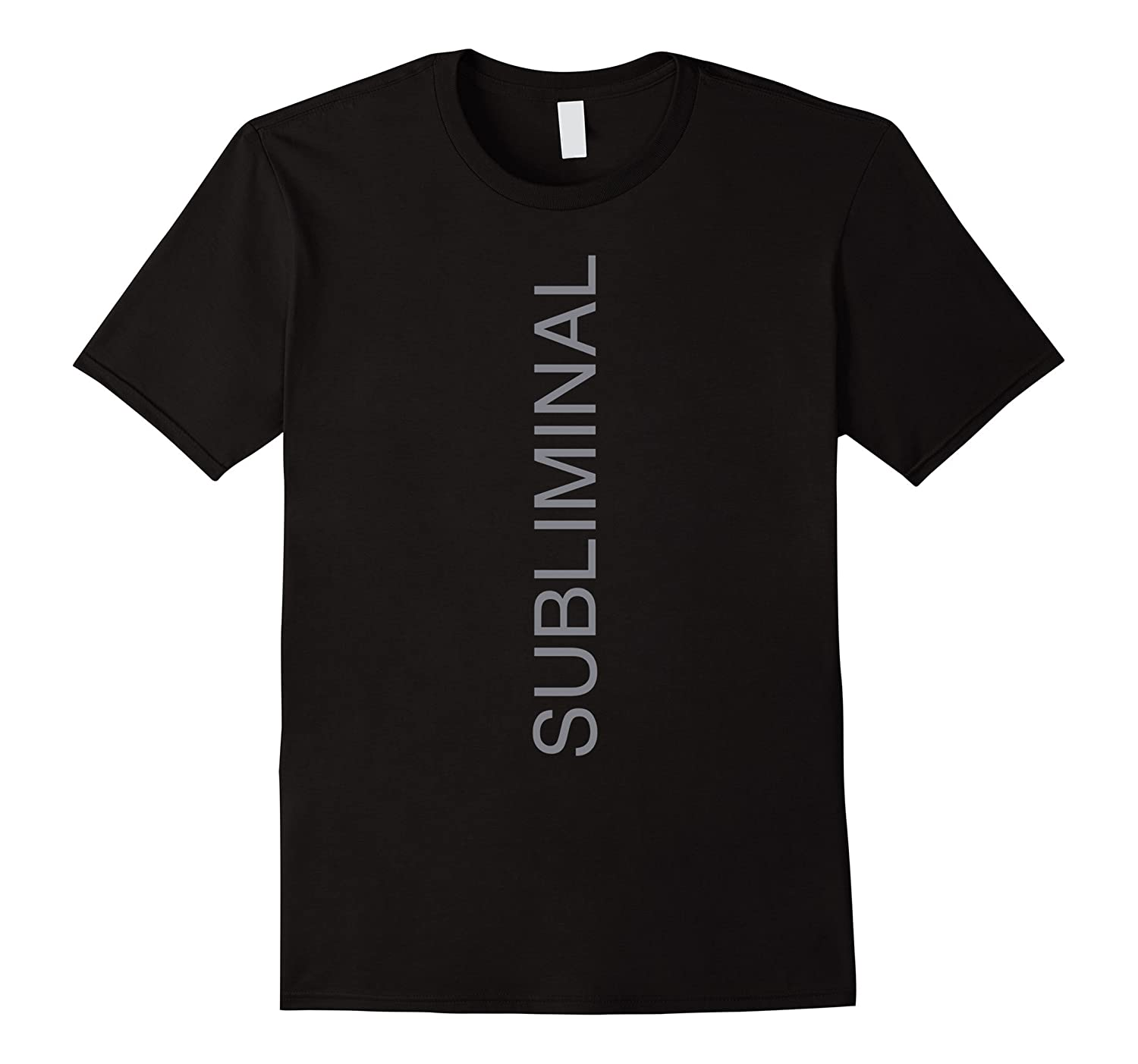 Subliminal Tie Printed Text Tee Shirt for Men   Women-CL – Colamaga ff4f5a182
