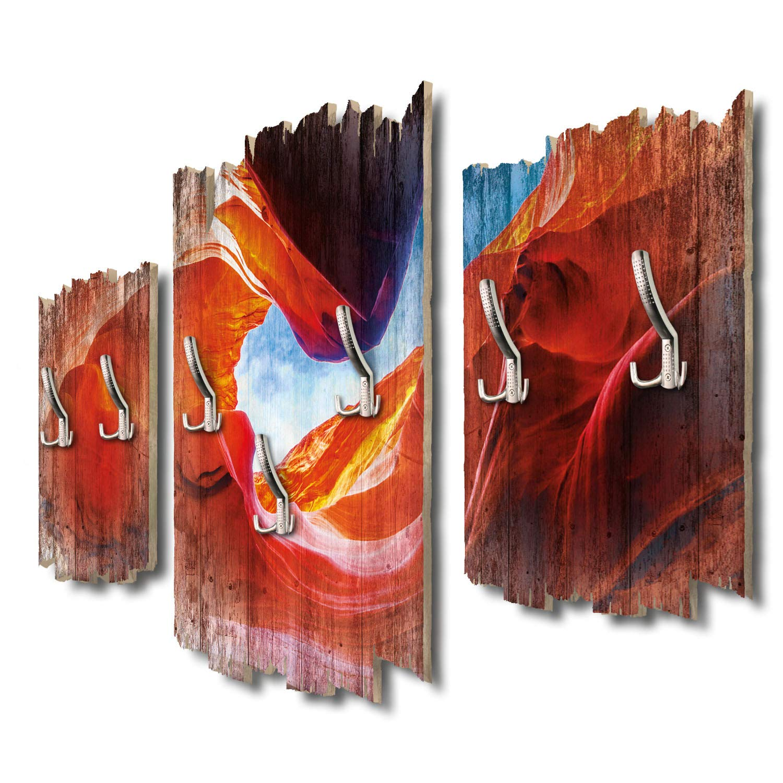 Kreative Feder Antelope Canyon Designer Wandgarderobe Flurgarderobe Wandpaneele 95 x 60 cm aus MDF-Holz DTGH001