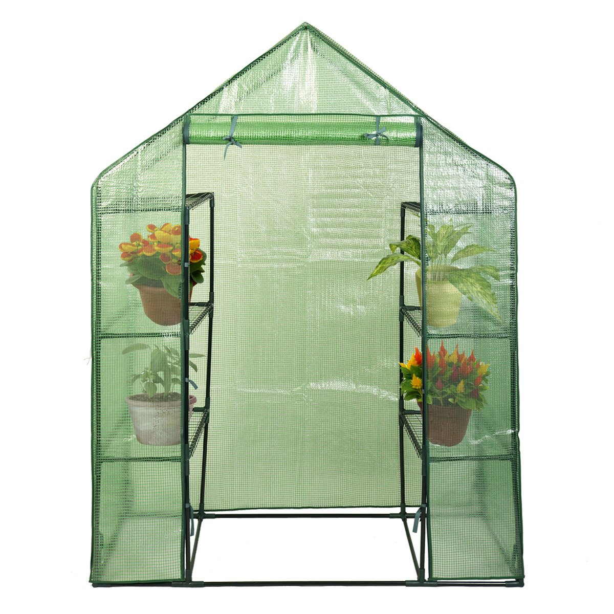 NEW Portable Mini 8 Shelves Walk In Greenhouse Outdoor 4 Tier Green House