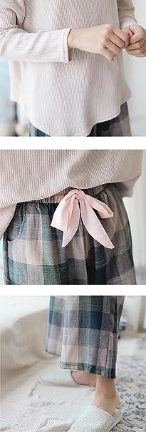 RZ.hs Mujer Dulce algodón Hecho Punto Conjunto de Pijamas señoras 2 Piezas  Suave Casual Ropa de Dormir  Amazon.es  Deportes y aire libre e41f72c0a2ce