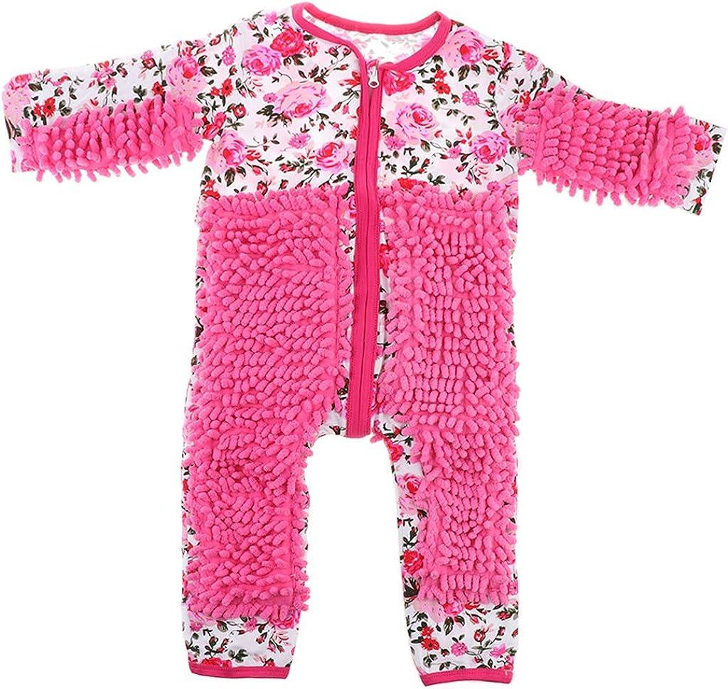 Homyl Baby Infant Pagliaccetti Pulizia Pavimento Pagliaccetti Ragazzi lungo Maniche Pagliaccetto Sveglio