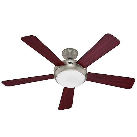Hunter 21627 Palermo 52 Inch Brushed Nickel Fan Ceiling Fans