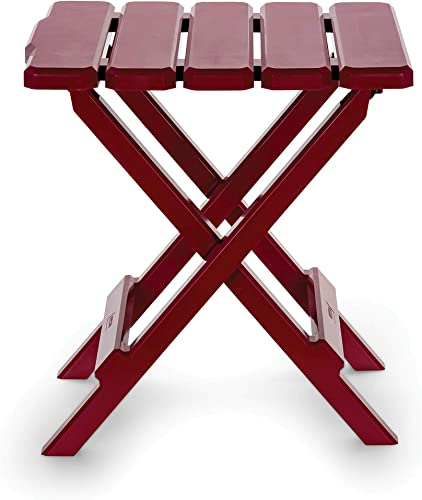 Camco 51684 Red Regular Adirondack Portable Outdoor Folding Side Table