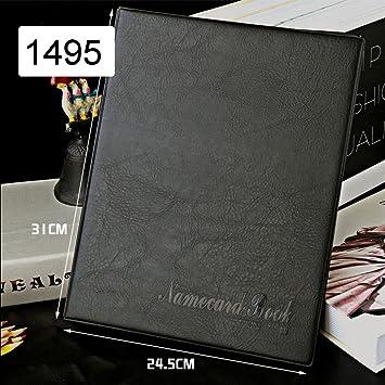 Kingfom Leder Visitenkarten Mappe Für 600 Karten Schwarz New 600 Cell