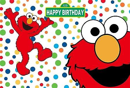 Fotohintergrund Weiß 2 1 X 1 5 M Bunte Punkte Smile Elmo Hintergrund Für Geburtstag Personalisierbar