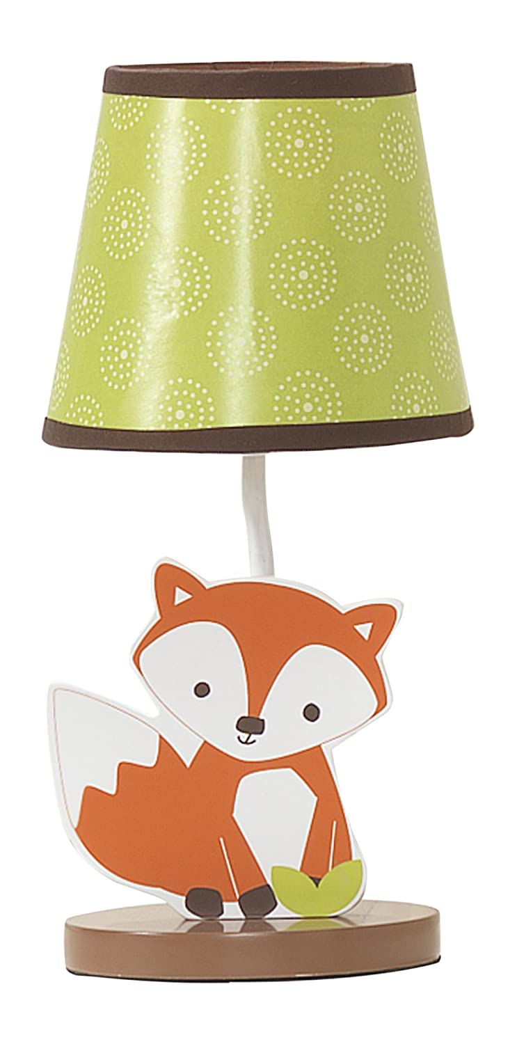 Bedtime Originals Friendly Forest Woodland Lamp with Shade & Bulb, Green/Brown 270024B