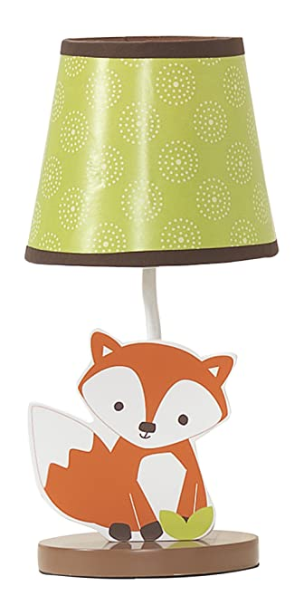 Bedtime Originals Friendly Forest Woodland Lamp With Shade U0026 Bulb,  Green/Brown