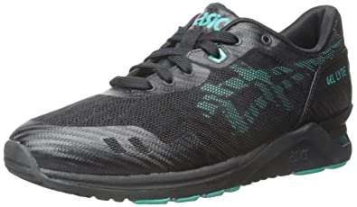 Asics Men's GEL-Lyte Evo NT Retro Black/Spectra Green Running Shoe - 4