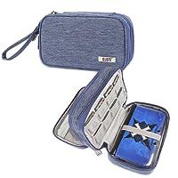 BUBM Nintendo Tasche, Doppelte Tragetasche Schutzhülle für 3DS/3DS XL/Neu 2DS XL, schützend tragbare Tasche, praktischer Organizer während der Reise für 3DS/3DS XL/Neu 2DS XL und Zubehör, Blau