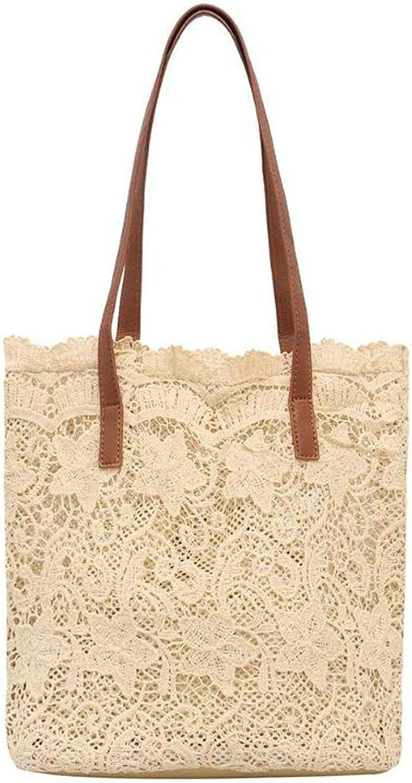 Lace Hollow Out Shoulder Bag Women Handbags Summer Beach Casual Totes Bags Top-Handle Bag