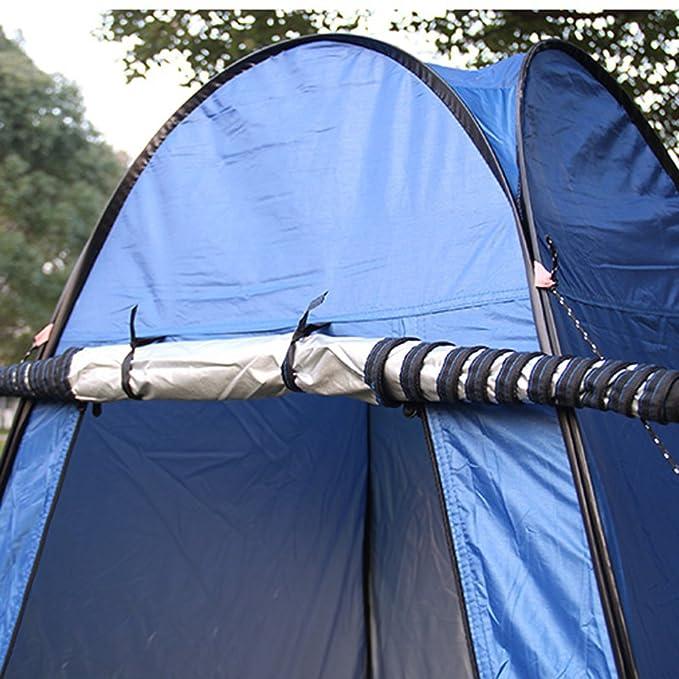 Portátil Pop Up tienda de campaña ducha al aire libre Cambio privacidad habitación de Camping baño refugio azul: Amazon.es: Deportes y aire libre