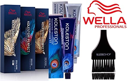 Wella Professionals Wella Koleston Perfect Crema Color de pelo permanente, de 2 onzas (Con elegante Tinte cepillo) (0/00 Pure Shine)