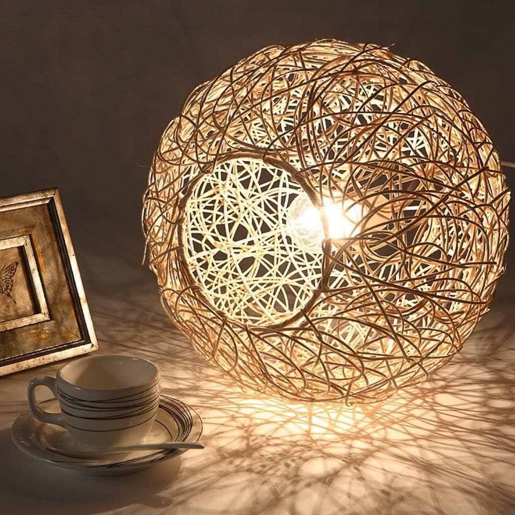 Chandelier Licht, Deckenanhänger, Hängende Leuchten, Botanische Retro-Rattan-Ballsaal-Kronleuchter, Persönlichkeit, Restaurant Mit Kronleuchtern,40Cm-A 20cm-a