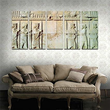 Amazon Com Cyiart 5 Panels Wall Art Persepolis Persian