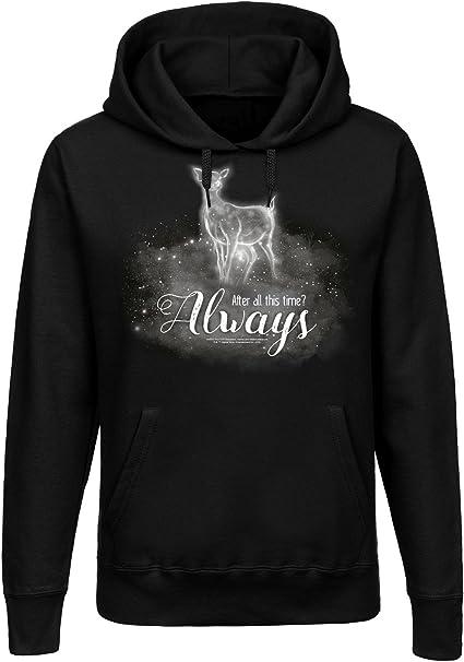 Harry Potter Always Frauen Kapuzen Pullover schwarz