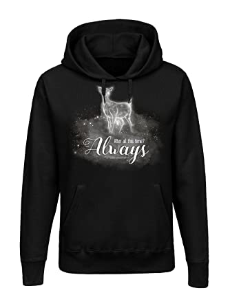 Harry Potter Always Sudadera con Capucha Negro: Amazon.es: Ropa y accesorios