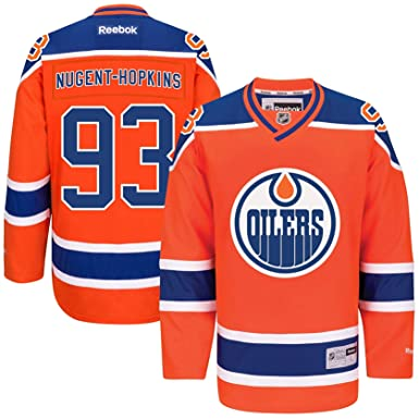 big sale a2c5b 9c43c Amazon.com: Ryan Nugent-Hopkins Edmonton Oilers #93 Orange ...