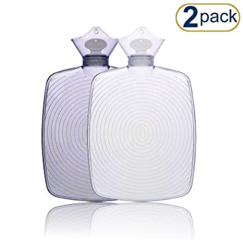 70b42d8bfa Hot Water Bottle (2Pack) – Comfortably Sleep with Maximum Warmth – Soothe  All Types