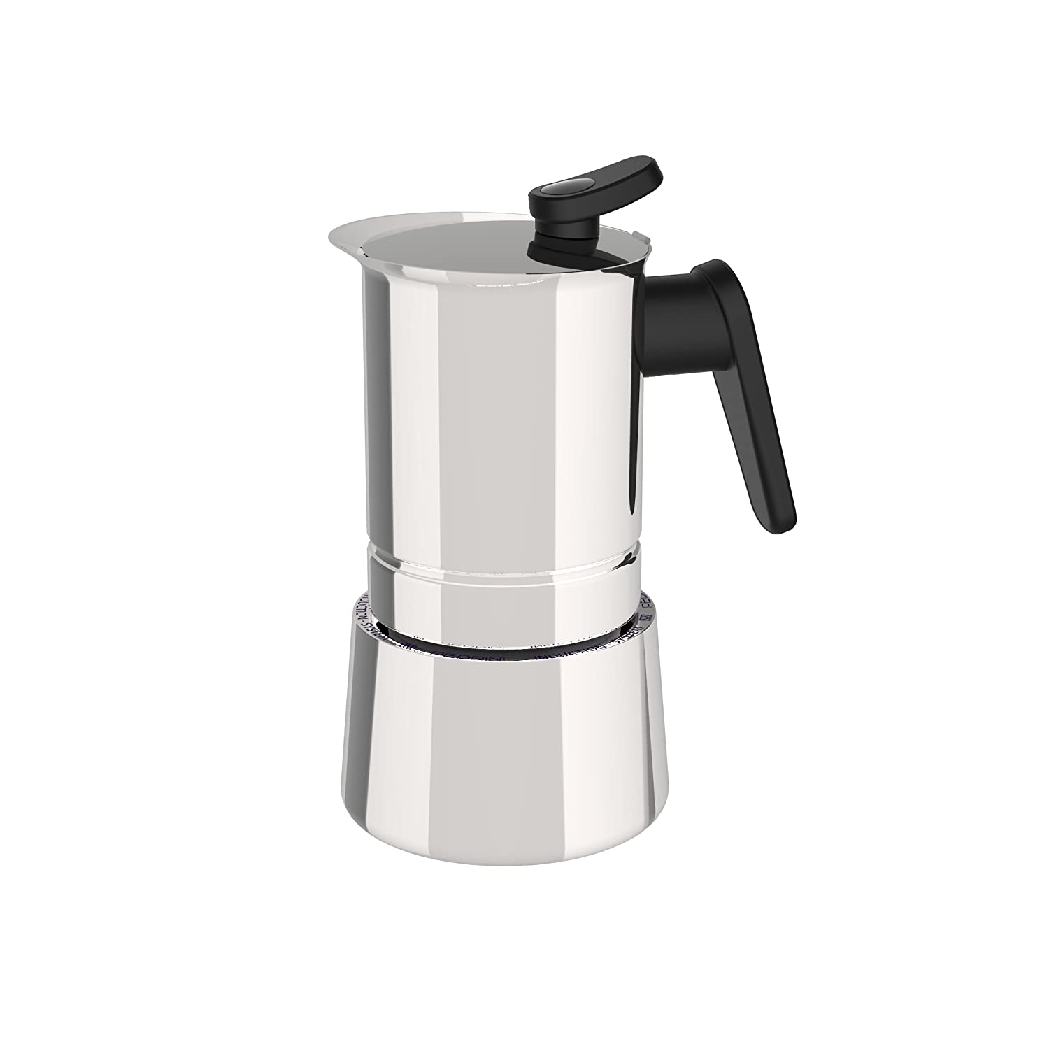 Pedrini: 6 Cups Espresso Coffee Pot, Steel 02CF038