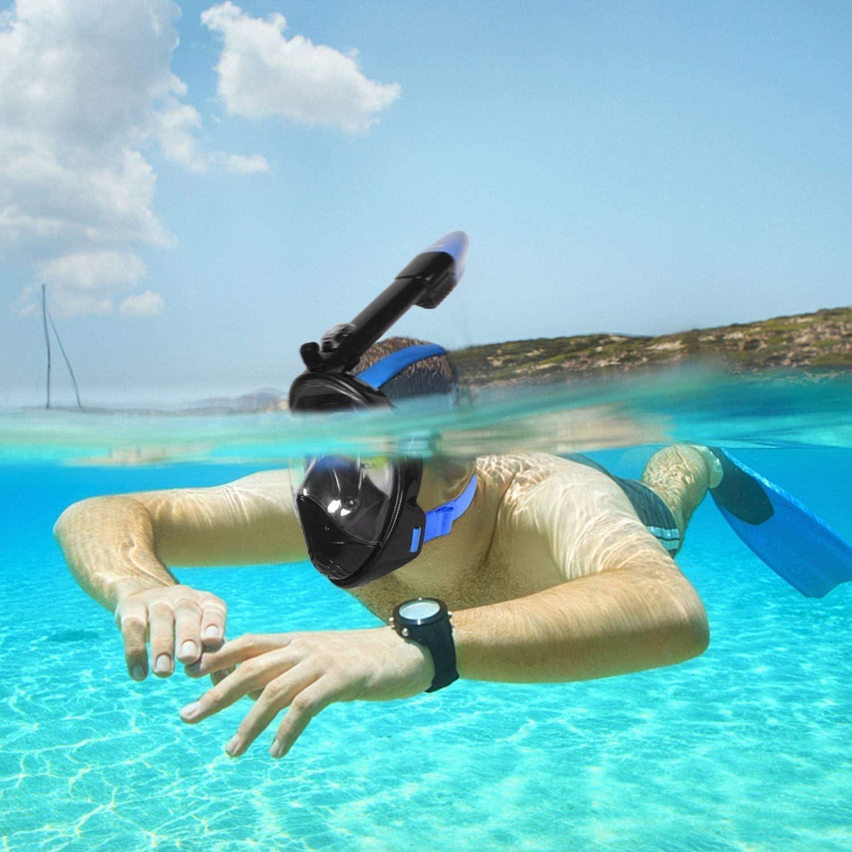 Glymnis M/áscara de Buceo M/áscara de Buceo para Ni/ños M/áscara Snorkel Gafas Cara Completa M/áscara Easybreath 180/° Amplio Vista Antivaho