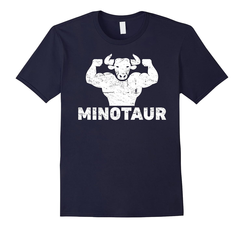 Ancient Greek Mythology Minotaur Distressed T-Shirt-TH