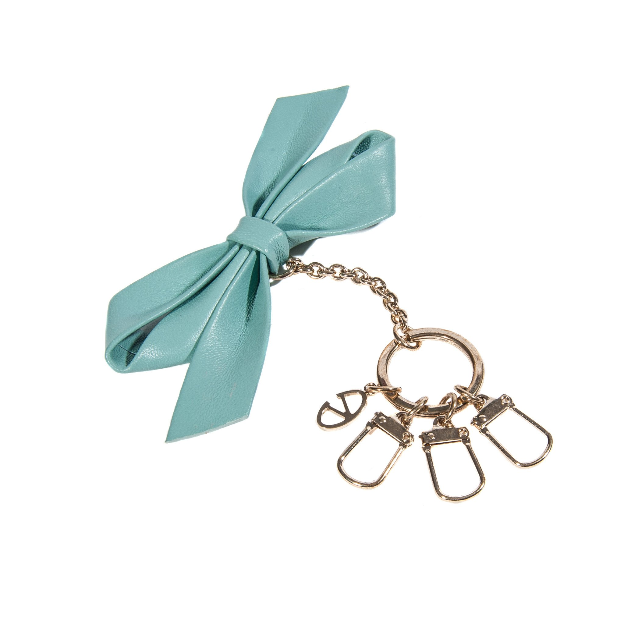 Valentino Woman Leather Blue Ribbon Key Ring