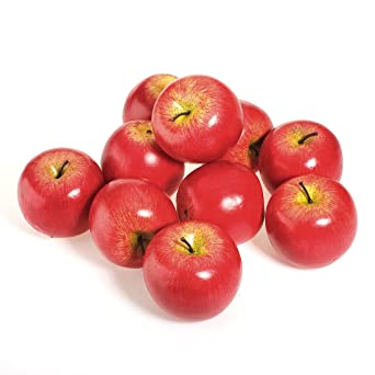 R TOOGOO 1pcs Decorative Large Artificial Fake Red Apple Plastic Fruits Home Party Decor