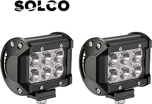 8 Pack 18W CREE Flood LED Pods LED Work Lights Driving Fog Lights for Off Road ATV Car SUV Truck Northpole Light LED Light Bar Jeep