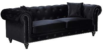 Outstanding Meridian Furniture Chesterfield Sofa Black Forskolin Free Trial Chair Design Images Forskolin Free Trialorg