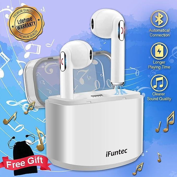 Auriculares Inalámbricos, Mini Auriculares Bluetooth Auriculares Inalámbricos con Micrófono Manos Libres Auricular Inalambricos con Cargador