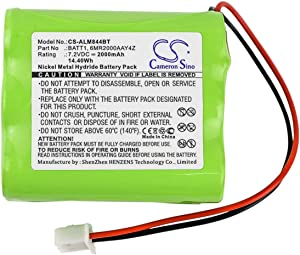 Replacement Battery for 2GIG 228844 Go Control Panels, Compatible with Linear Corp, PERS-4200, Fits Part No 2GIG 6MR2000AAY4Z, 7.2V 2000mAh/14.40Wh Ni-MH