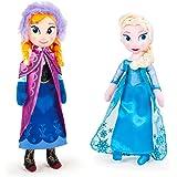 Peluche Anna et Elsa Disney Frozen Poupee Taille 40 cm