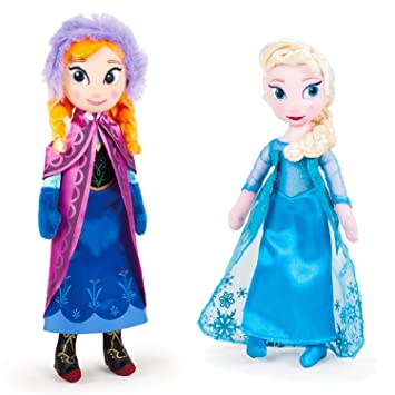 Disney PACK DE 2 PELUCHES FROZEN - ELSA + ANNA