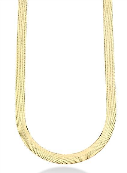 Amazon.com: MiaBella - Cadena de plata de ley chapada en oro ...