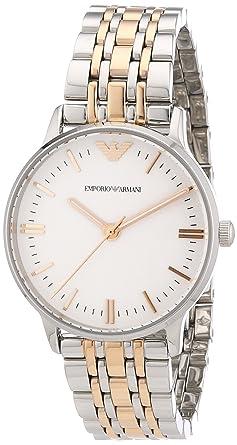 3f00bd774576 Emporio Armani Damen-Armbanduhr XS Analog Quarz Edelstahl beschichtet AR1603