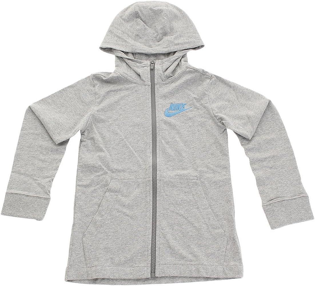 8e5750cf64ac5 Nike Boys Lightweight Cotton Hoodie Athletic Shirt Full Zip (M 10/12) Gray