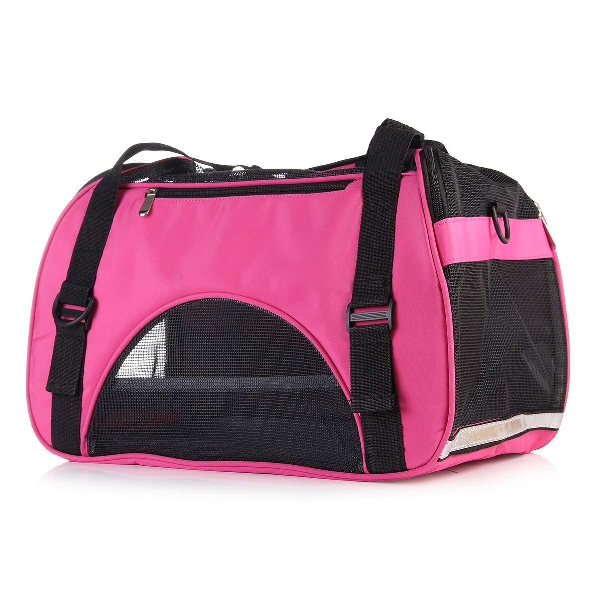 color bluee S color bluee S LYEJM Pet Carrier Pet Travel Portable Bag Carrier Soft Side Bags for Dogs and Cats LYEJM (color   color bluee, Size   S)