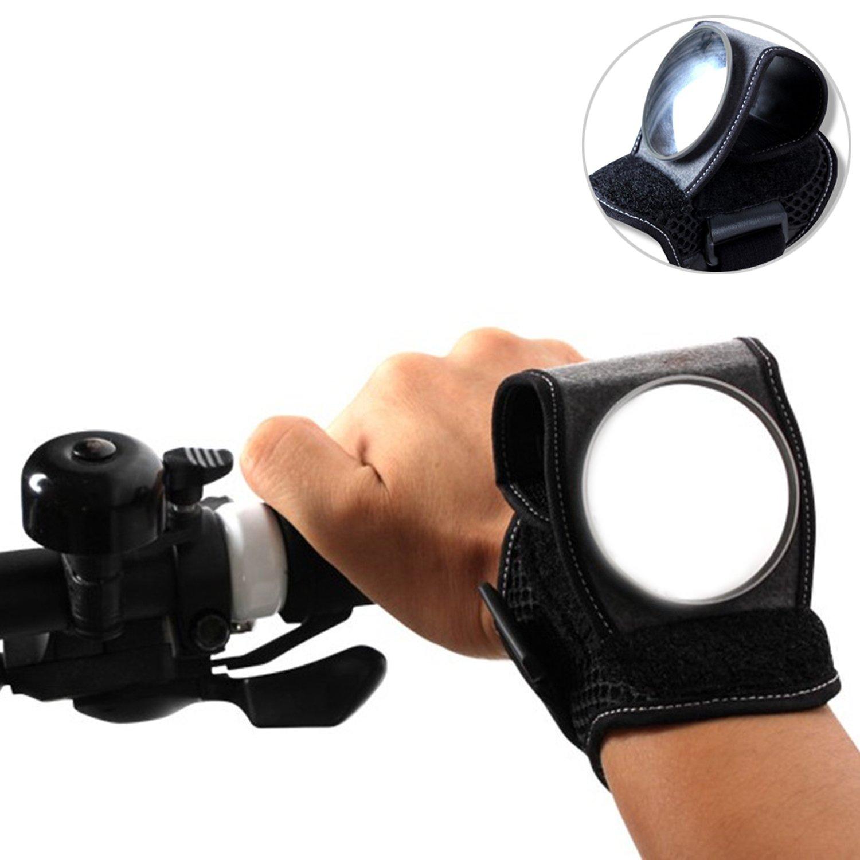 Bicicletta Specchio sul braccio, Specchietto retrovisore universale per il polso, portatile e regolabile Bike Mirror Fur per bici da corsa, e di Bike, Mountain Bike Dewuseller