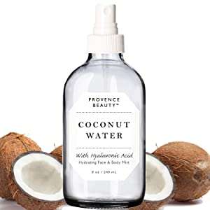 Provence Beauty | Face & Body Mist Spray - Hydrating Coconut Water With Moisturizing Hyaluronic Acid | Instant Cooling, Conditoning, Hydrating | 8 FL OZ