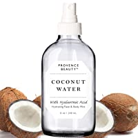 Provence Beauty   Face & Body Mist Spray - Hydrating Coconut Water With Moisturizing Hyaluronic Acid   Instant Cooling, Conditoning, Hydrating   8 FL OZ