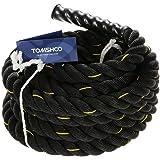 TOMSHOO Battle Rope, Fune di Allenamento,Corda di Forma Fisica,10/12/15M Fitness Crossfit per Potenziamento Muscolare Corpo