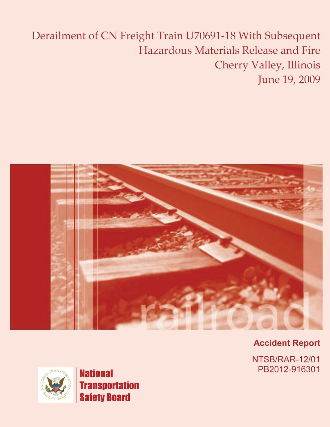 Railroad Accident Report Derailment of CN Freight Train U70691-18 With Subsequent Hazardous Materials Release and Fire Cherry Valley, Illinois June 19, 2009