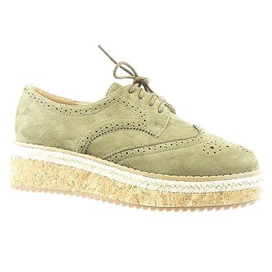 Angkorly Damen Schuhe Derby Schuh Espadrilles Low