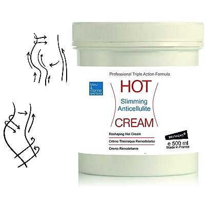 Crème Effet Chaud Lipo Réductrice Anti Cellulite HOT CREAM- Crème Thermo Active Échauffement Musculaire Sport 500ml - Crème Thermique Minceur - Crème Chauffante Anti-douleurs ( dos, a