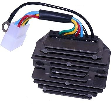 For Kubota Tracctor B5200 B6200 B7200 B8200 B9200 12V Voltage Regulator 6 Wire 15533-64600 H1550-64600 76611-55440