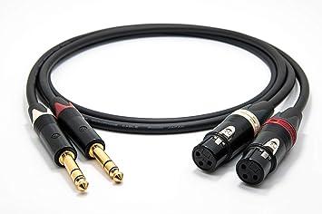 Mogami 2534 (L,R) Estéreo pares balanceado Cable | Neutrik 6,3