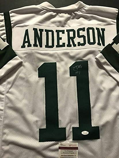 best authentic d4ba3 eb0d1 Robby Anderson (New York Jets) Autographed Jersey - White ...