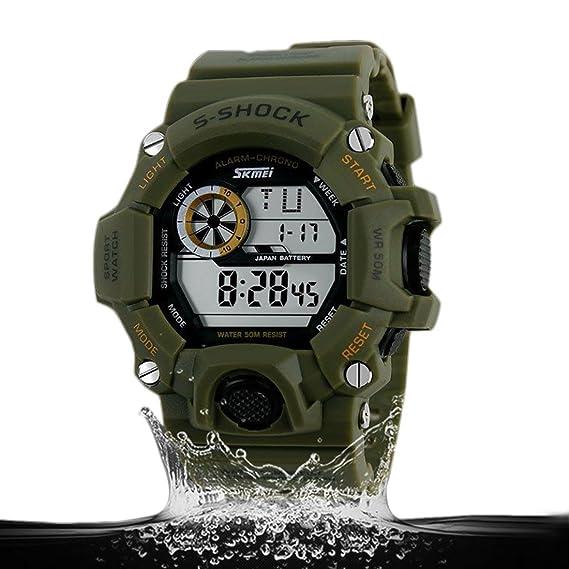 a021cb252 Relógio Masculino Shock Skmei 1019 Militar Digital - Preto  Amazon ...